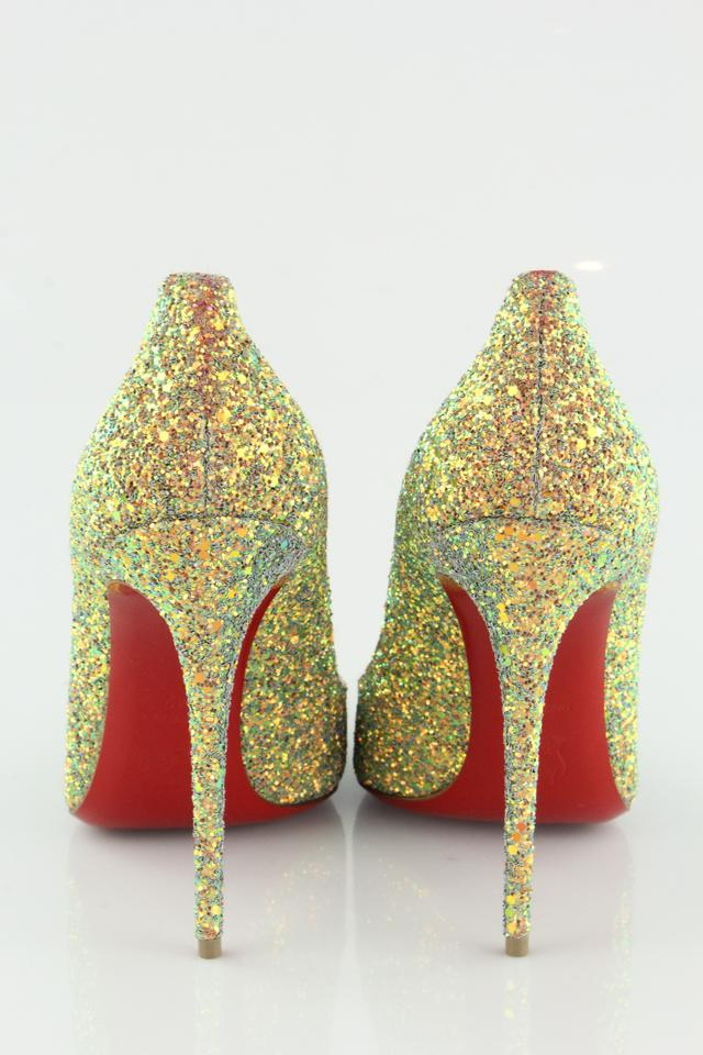 b7387f60d66 Christian Louboutin Pigalle Follies Dragonfly 100mm Glittered Pollen Pumps  Image 7. 12345678