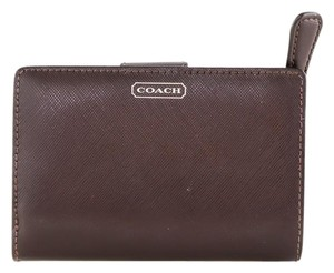 Coach * Coach Mahogany Darcy Saffiano leather Wallet