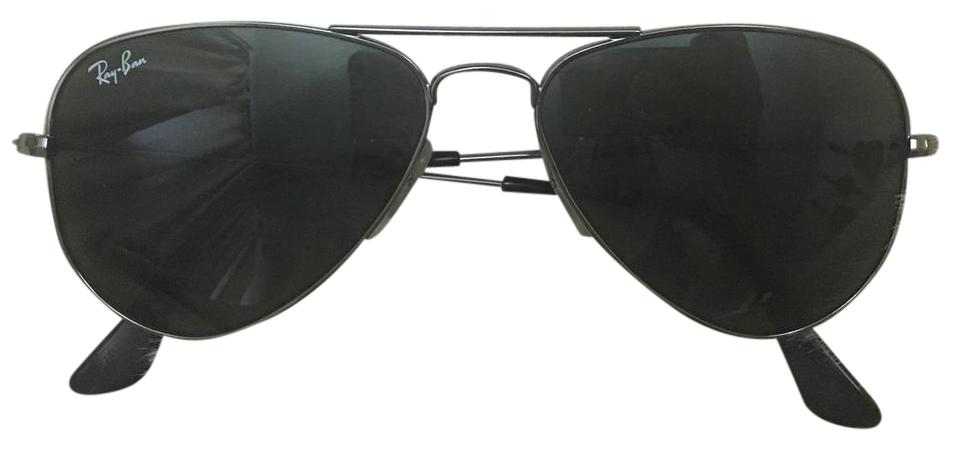 Ray-Ban Gunmetal Frame with Green Classic Lenses Rb3044 Aviator ...