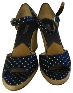 MICHAEL Michael Kors Navy blue and white Wedges