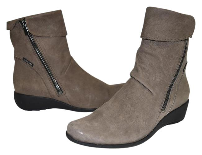Mephisto Pewter Leather Seddy Wedge Rich Ergonomically (B8 Boots/Booties Size US 6.5 Regular (M, B) Mephisto Pewter Leather Seddy Wedge Rich Ergonomically (B8 Boots/Booties Size US 6.5 Regular (M, B) Image 1