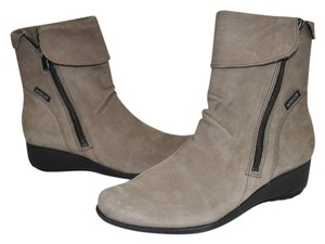 Mephisto Wedge PEWTER LEATHER Boots