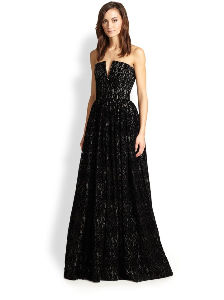 71eab6b62c1 Alice + Olivia Black Lace Bustier Evening Gown Long Formal Dress Size 4 (S)  47% off retail