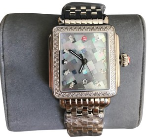 Michele $2200 NWT MICHELE Deco Diamond, Grey Mosaic Diamond Dial MW06T01A1977
