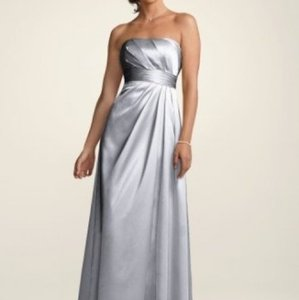 David's Bridal Red Satin Textured Pleated Bodice Style F14033 Formal Bridesmaid/Mob Dress Size 10 (M)