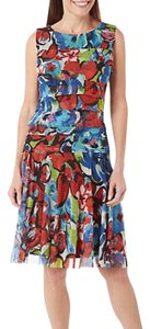 ILE New York short dress red blue on Tradesy
