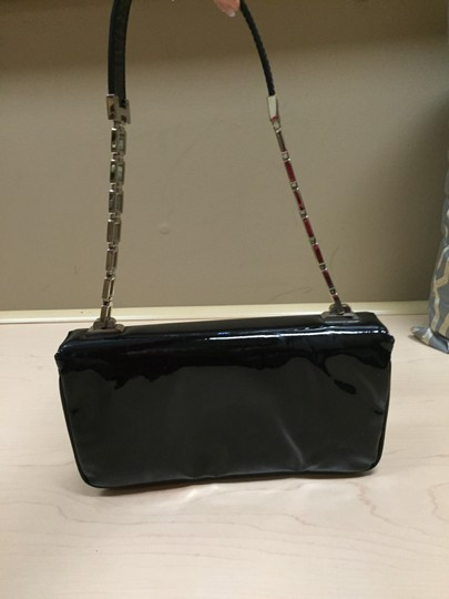 Versace Evening Patent Leather Black Clutch