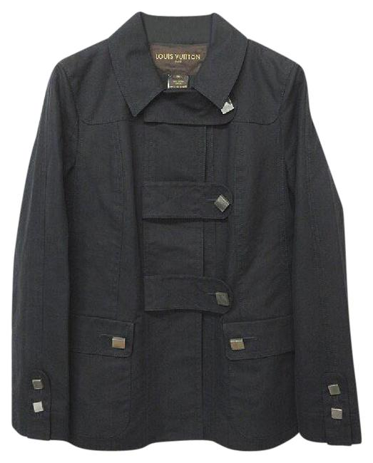 Item - Black With Square Buttons Jacket Size 4 (S)