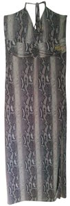Python Print Maxi Dress by Apple Bottoms Snake Halter Maxi