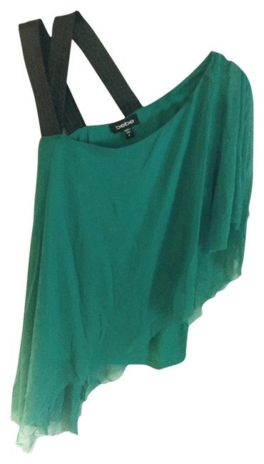 bebe Top blue with black straps