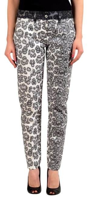 Just Cavalli Multi-color Animal Print Women's Casual Pants Size 4 (S, 27) Just Cavalli Multi-color Animal Print Women's Casual Pants Size 4 (S, 27) Image 1
