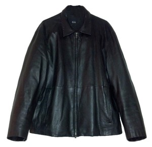 Hugo Boss Leather Lambskin Leather Leather Designer Leather Leather Jacket