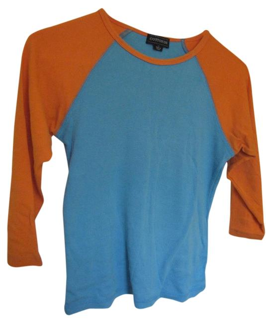 Cotton On T Shirt Blue and Orange