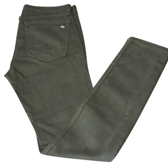 Item - Dk Olive Coated And The Dre Slim Skinny Jeans Size 28 (4, S)