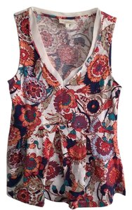 Anthropologie Top flower print