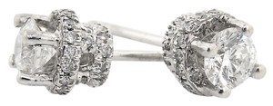 ABC Jewelry Fancy Diamond Studs in 14kt White Gold