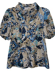 Banana Republic Top blue multi