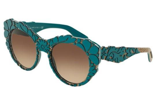 Preload https://img-static.tradesy.com/item/21879610/dolce-and-gabbana-turquoise-floral-brocade-sunglasses-0-0-540-540.jpg