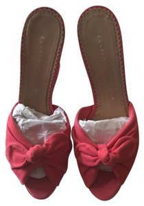 Charlotte Olympia pink Wedges