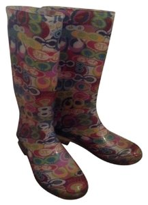 Coach Poppy Multi Color Boots