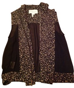 BCBGeneration Bcbg Vest Going Out Shirt Bcbg Top Black, Sheer, Multi