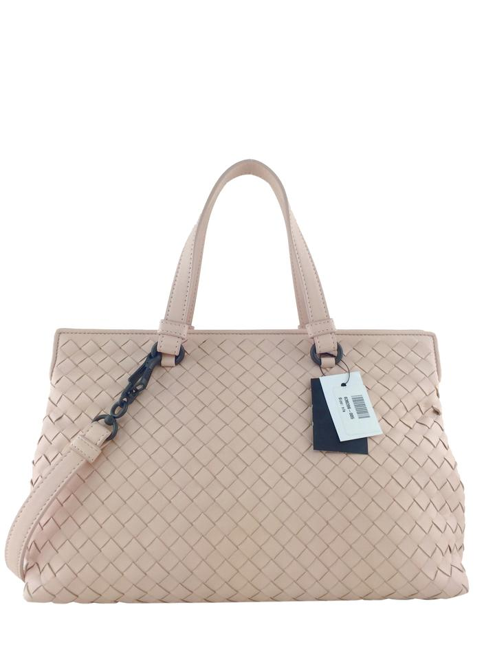 5117aa2516 Bottega Veneta Intrecciato Medium Top Handle Light Pink Nappa Leather  Satchel