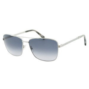 Ermenegildo Zegna New Zegna EZ0031 Zeiss Men Palladium Metal Rectangular Sunglasses