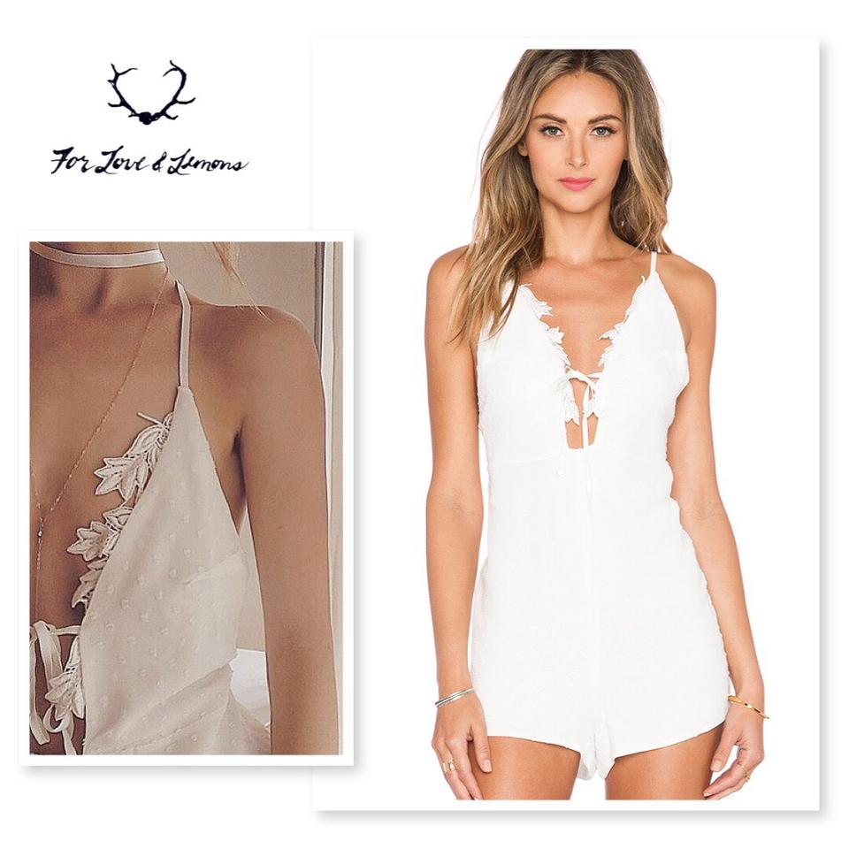 For Love Lemons White Garden Isle Romperjumpsuit Tradesy