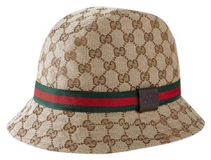 5c4ccc34c66e3 Gucci Gucci GG Canvas Fedora with Web Detail