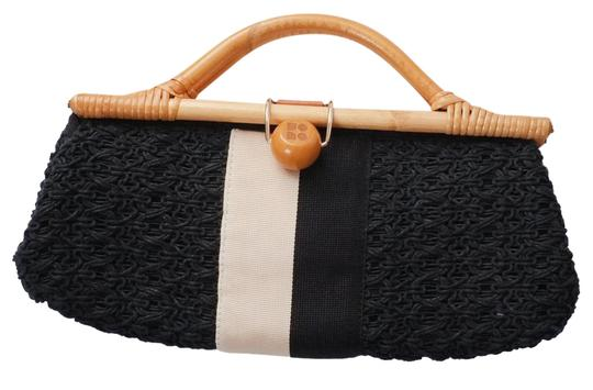 Preload https://item1.tradesy.com/images/kate-spade-mallorca-shelby-woven-black-white-crochet-webbing-and-bamboo-clutch-21880490-0-1.jpg?width=440&height=440
