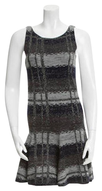 Item - Gray Silver Knit Short Casual Dress Size 4 (S)