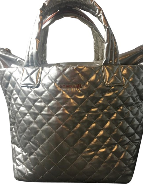 Item - Metallic Gold Quilted Nylon Tote