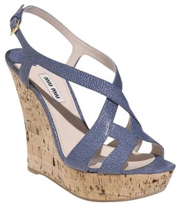 Miu Miu Blue Wedges