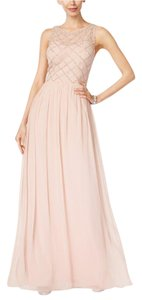 Adrianna Papell Champagne Sleveless Beaded A-line Dress (champagne) Dress