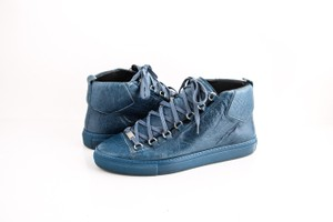 Balenciaga Arena Leather Mid-top Sneaker Blue Shoes