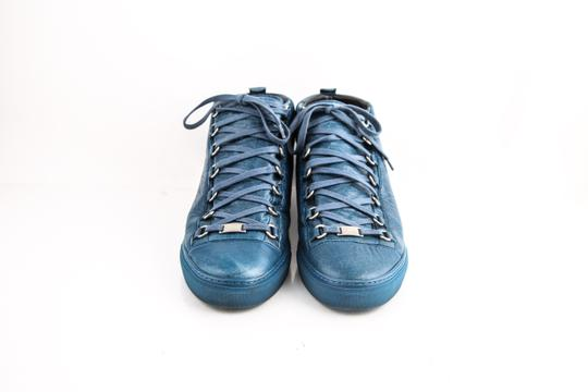 Balenciaga Arena Leather Mid-top Sneaker Blue Shoes Image 1