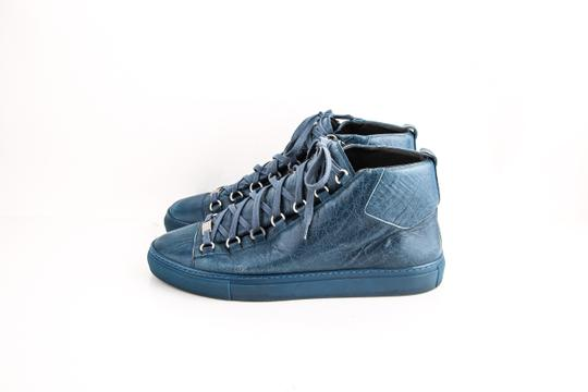 Balenciaga Arena Leather Mid-top Sneaker Blue Shoes Image 2