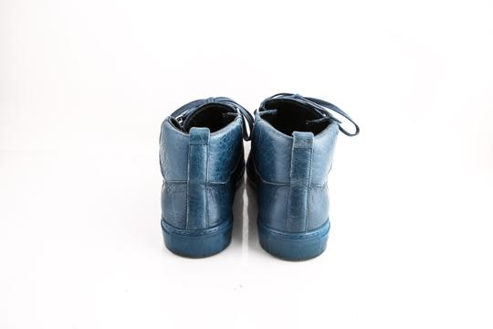 Balenciaga Arena Leather Mid-top Sneaker Blue Shoes Image 5