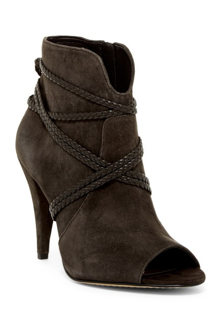 Item - Charcoal Gray Astan Peep Toe Boots/Booties Size US 10 Regular (M, B)