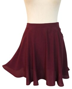ANGL Mini Skirt burgundy