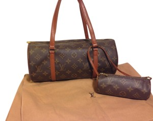 Louis Vuitton Papillon Handbag Monogram Leather Vintage Shoulder Bag