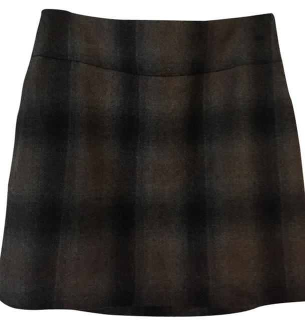 The Limited Mini Skirt Grey and brown