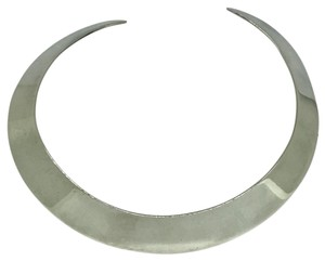 Omega Sterling Silver Choker Collar Necklace