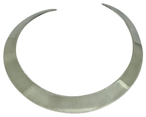 Unique Couture Sterling Silver Choker Collar Necklace