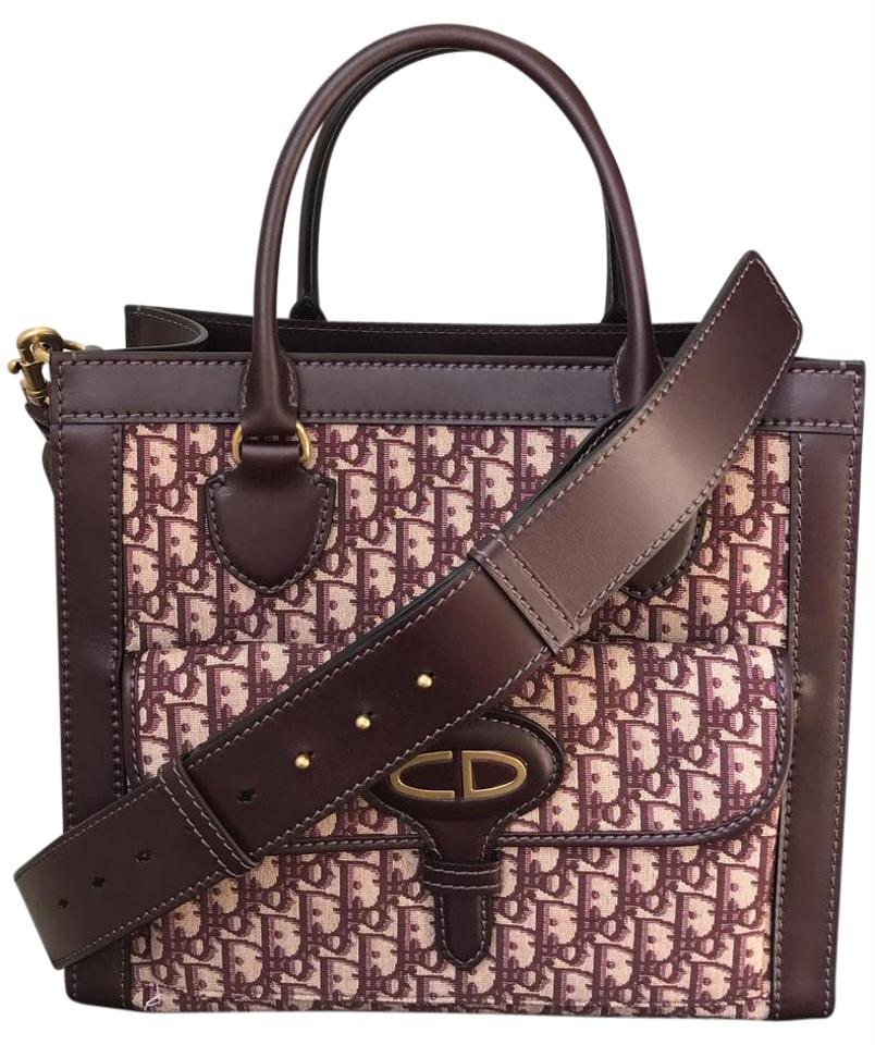 29982e767df1 Dior Extra 150 Off with Coupon Oblique Monogram Red Burgundy Convertible  Canvas Tote