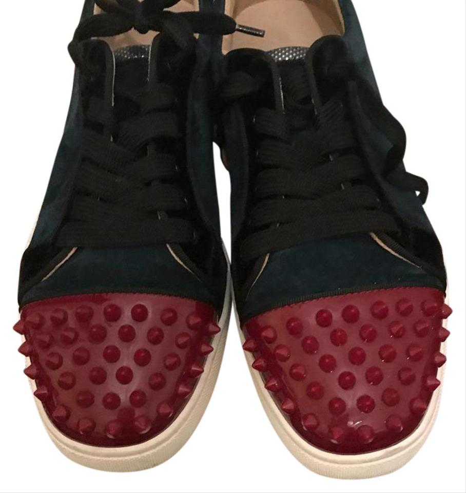 Christian Louboutin Red And Navy Blue Spike Sneaker Sneakers Size Us 9 Regular M B 58 Off Retail