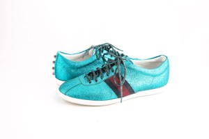 Gucci * Glitter Web Sneaker with Studs Shoes