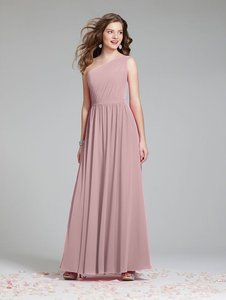 Alfred Angelo Rum Pink Chiffon 7243 Feminine Bridesmaid/Mob Dress Size 12 (L)
