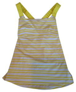 Lululemon Yellow Stripe Lululemon Top