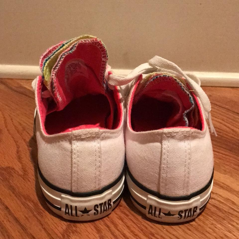 0b2189a07b70 Converse White Outer - Pink Lining Five Tongue Sneakers Size US 6 ...